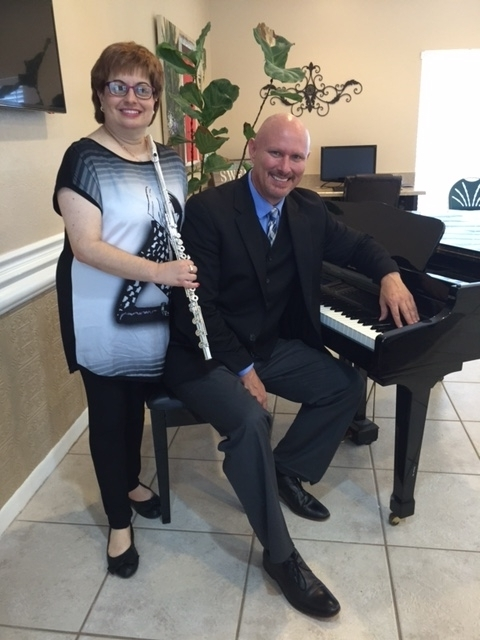 Vera and Pianist Stan Collins At Imperial Palms